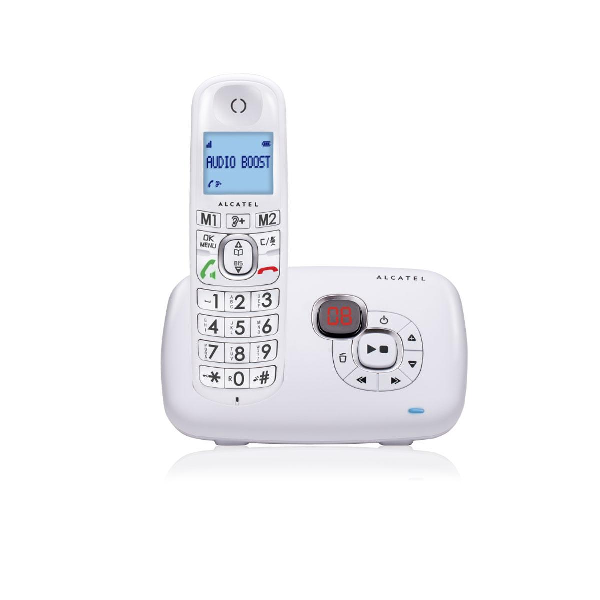 Téléphone sans fil Alcatel XL 385 Voice Blanc Téléphone sans fil avec répondeur