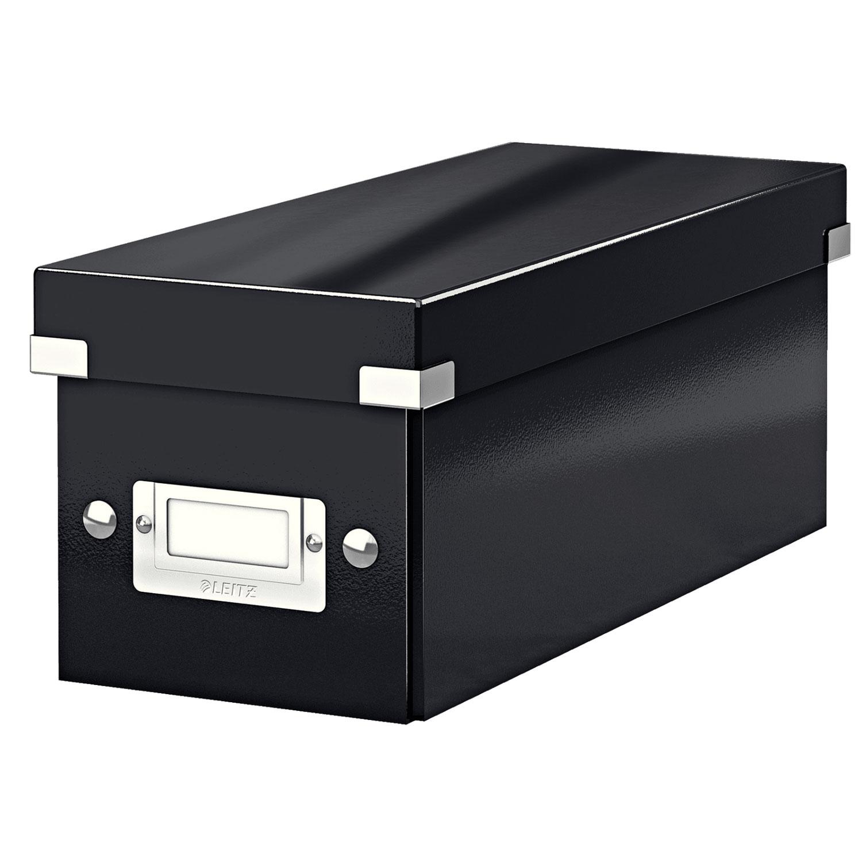 leitz click store format cd noir bo te de rangement leitz sur. Black Bedroom Furniture Sets. Home Design Ideas