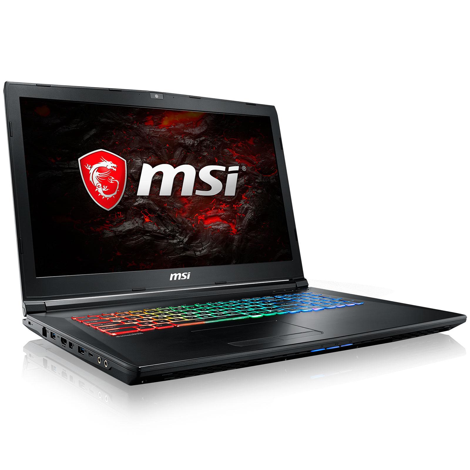"PC portable MSI GP72VR 7RFX-623XFR Leopard Pro Intel Core i7-7700HQ 16 Go SSD 256 Go + HDD 1 To 17.3"" LED Full HD NVIDIA GeForce GTX 1060 3 Go Graveur DVD Wi-Fi AC/Bluetooth Webcam FreeDOS (garantie constructeur 2 ans)"