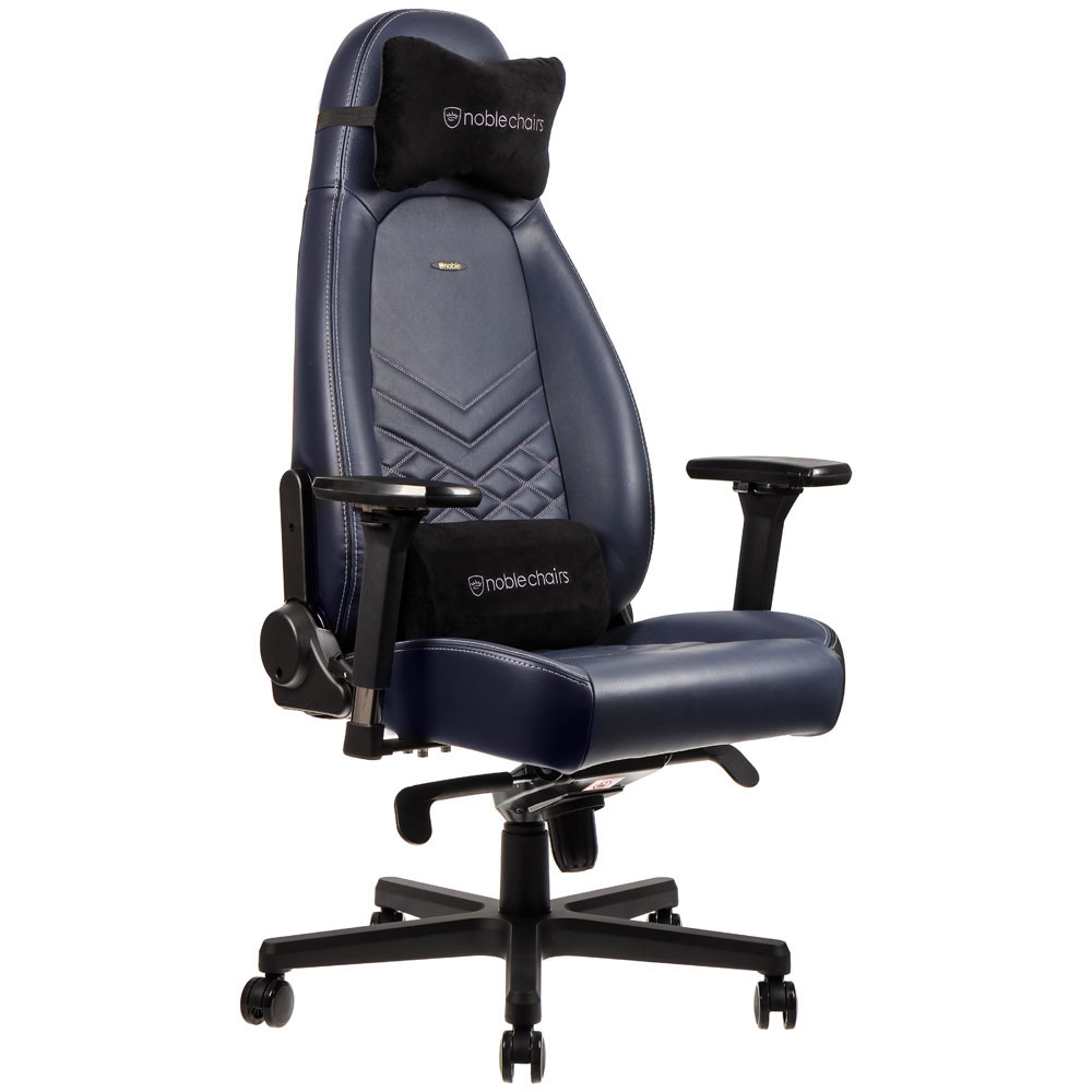noblechairs icon cuir bleu nuit fauteuil gamer noblechairs sur. Black Bedroom Furniture Sets. Home Design Ideas