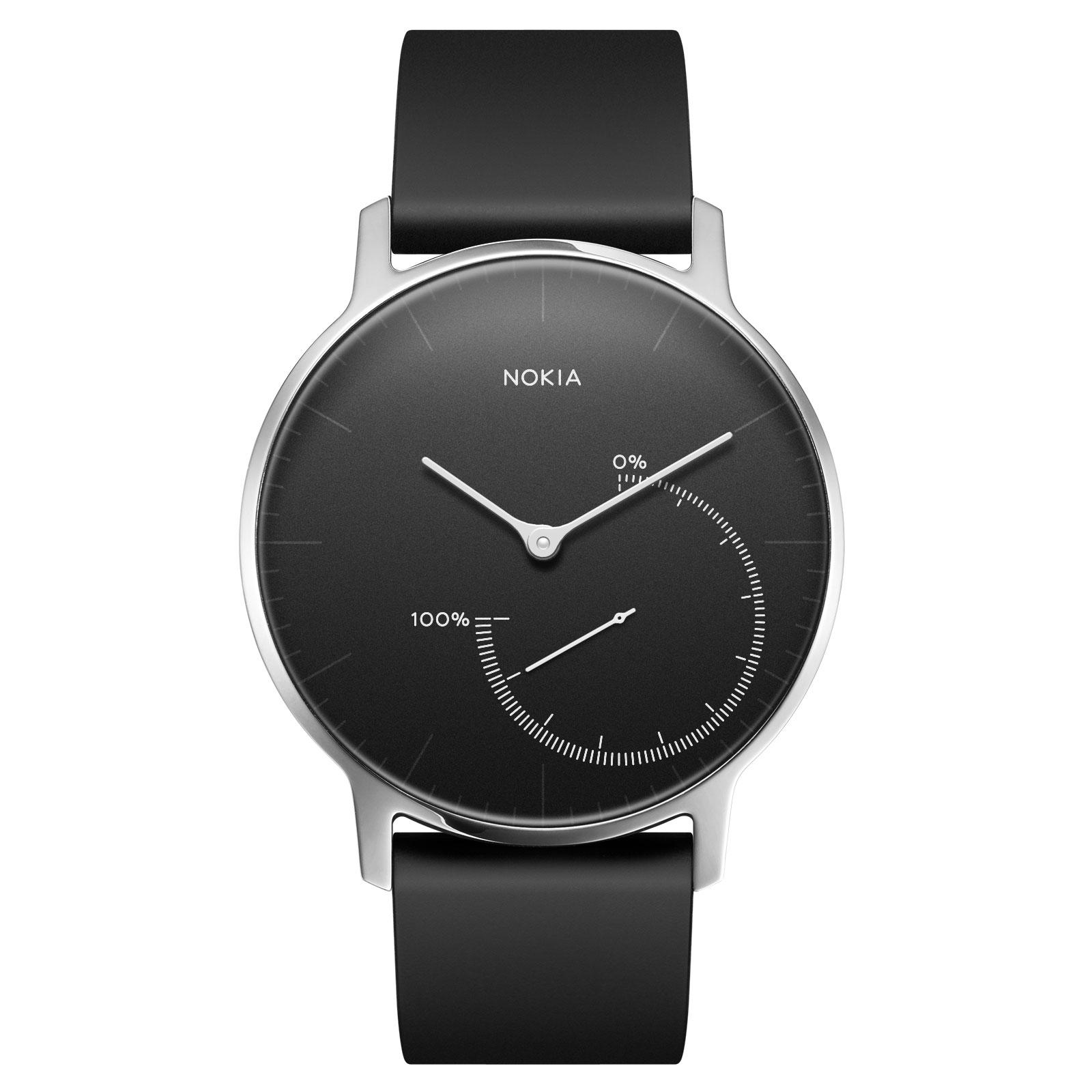 Bracelet connecté Withings Nokia Steel Noir Montre connectée étanche avec suivi d'activité, analyse du sommeil et Bluetooth (iOS et Android)