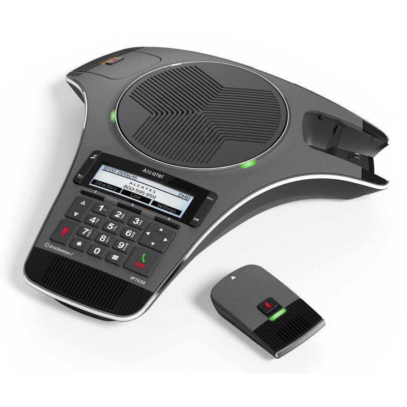 Téléphone filaire Alcatel Conference IP1550 Système d'audio conférence pour salle de réunion avec 2 micros DECT détachables