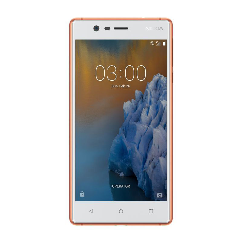 "Mobile & smartphone Nokia 3 Cuivre Smartphone 4G-LTE Dual SIM - MediaTek MT6737 Quad-core 1.3 GHz - RAM 2 Go - Ecran tactile 5"" 720 x 1280 - 16 Go - NFC/Bluetooth 4.2 - 2630 mAh - Android 7.0"