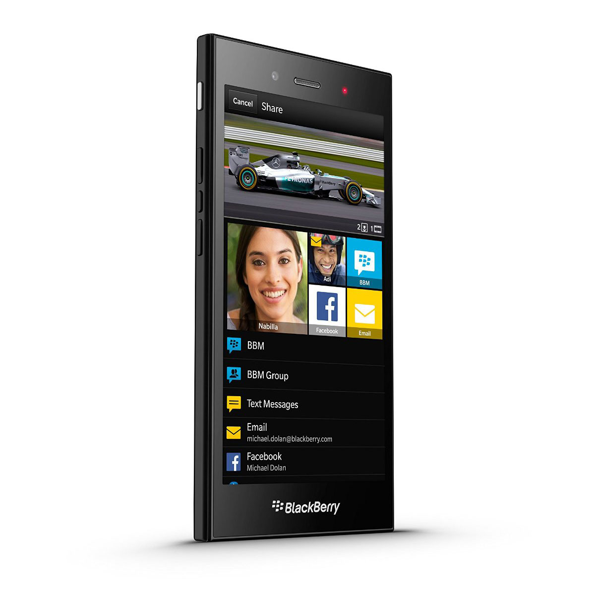 Blackberry z3 noir mobile smartphone blackberry sur for Photo ecran blackberry