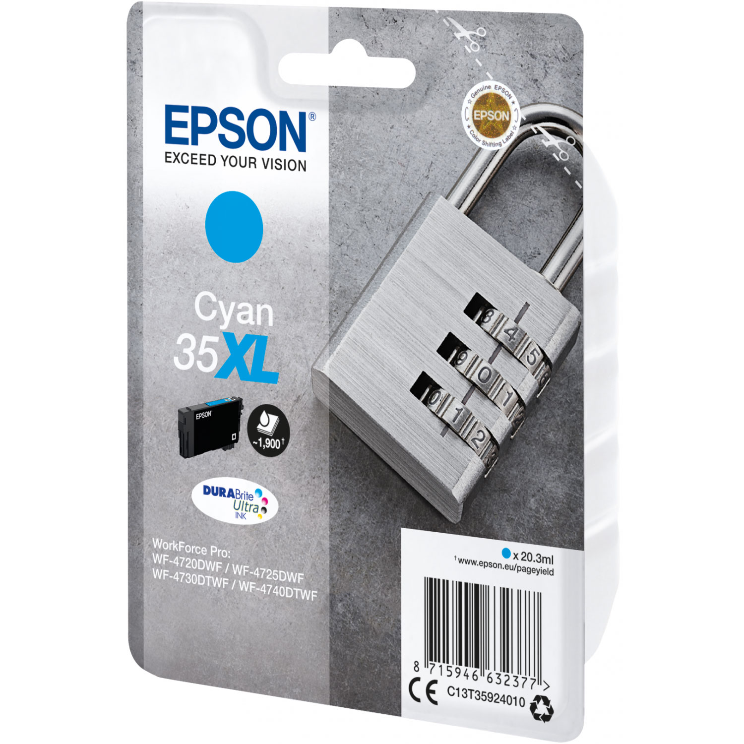 epson cadenas cyan 35xl cartouche imprimante epson sur. Black Bedroom Furniture Sets. Home Design Ideas