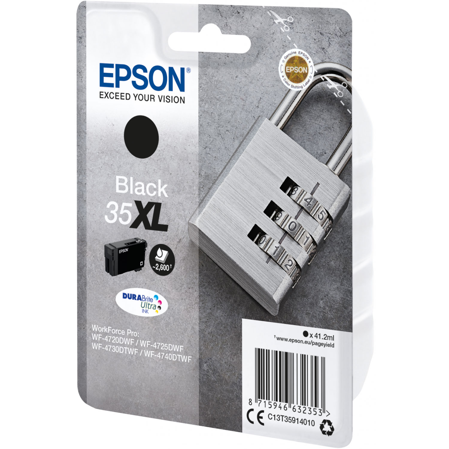 epson cadenas noir 35xl cartouche imprimante epson sur. Black Bedroom Furniture Sets. Home Design Ideas