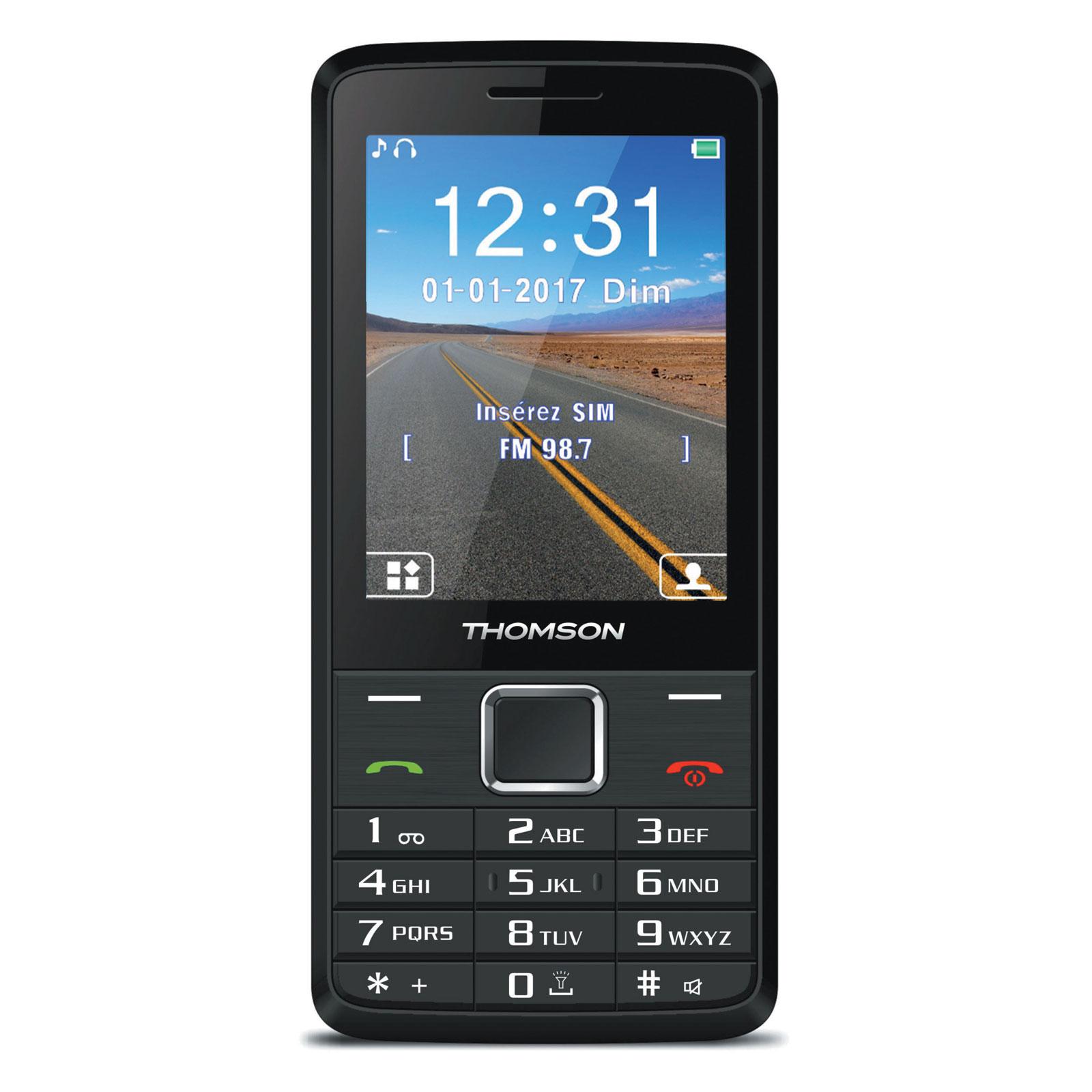"Mobile & smartphone Thomson Tlink 28+ Noir Téléphone 2G Dual SIM - Ecran 2.8"" 240 x 320 - Bluetooth - 1400 mAh"
