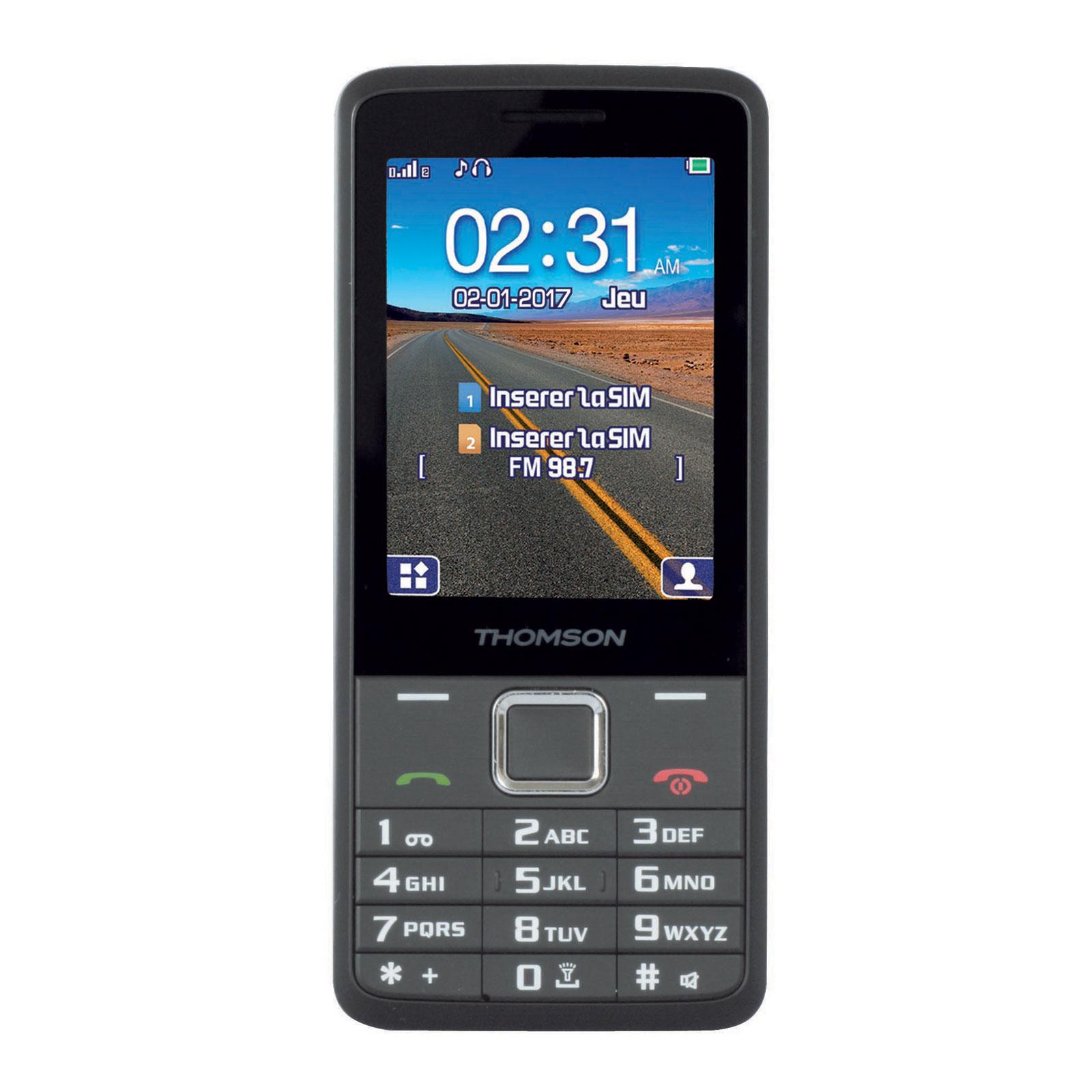 """Mobile & smartphone Thomson Tlink 28+ Argent Téléphone 2G Dual SIM - Ecran 2.8"""" 240 x 320 - Bluetooth - 1400 mAh"""
