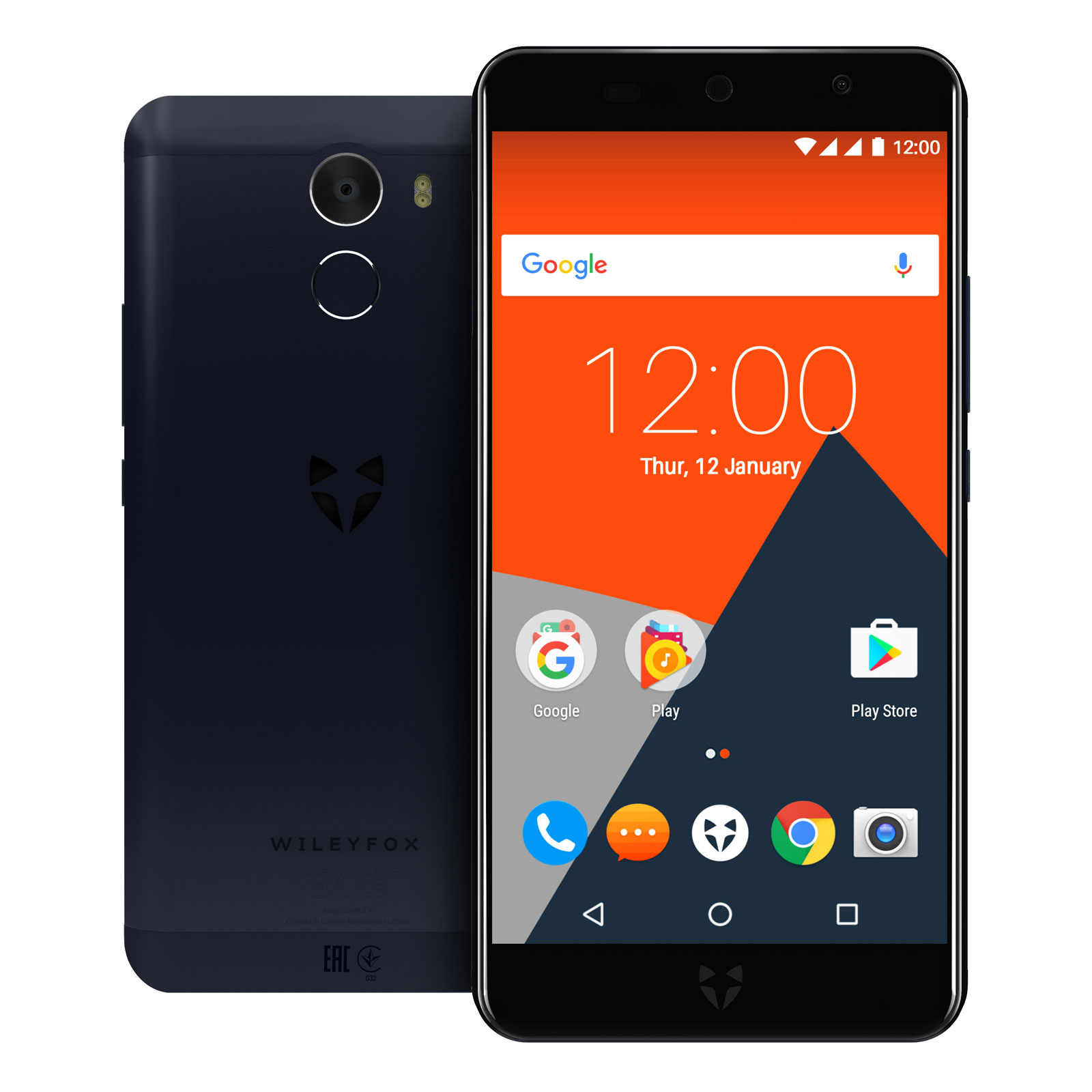 "Mobile & smartphone Wileyfox Swift 2 X Bleu Nuit Smartphone 4G-LTE Dual SIM - Snapdragon 430 8-Core 1.4 GHz - RAM 3 Go - Ecran tactile 5.2"" 1080 x 1920 - 32 Go - NFC/Bluetooth 4.1 - 3010 mAh - Android 7.1"