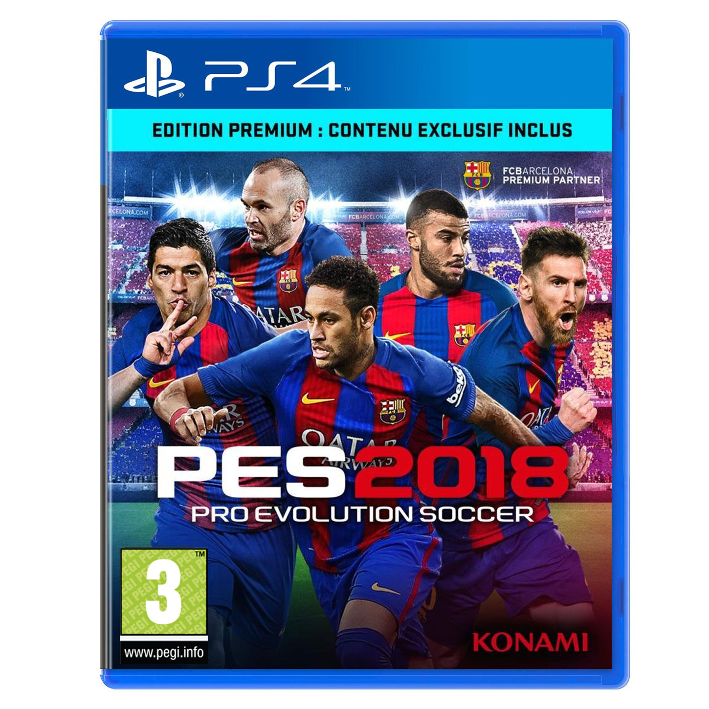 pes 2018 premium d1 edition ps4 jeux ps4 konami sur. Black Bedroom Furniture Sets. Home Design Ideas