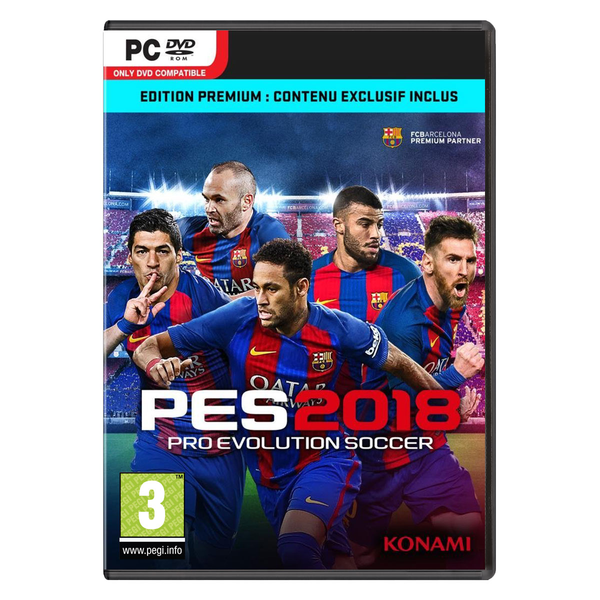 pes 2018 premium d1 edition pc jeux pc konami sur. Black Bedroom Furniture Sets. Home Design Ideas