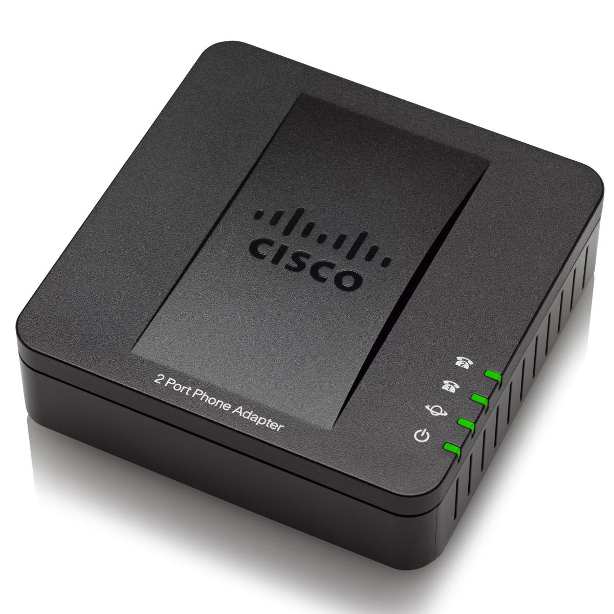 Téléphonie VoIP Cisco SPA122 Adaptateur téléphonique 2 ports avec routeur intégré
