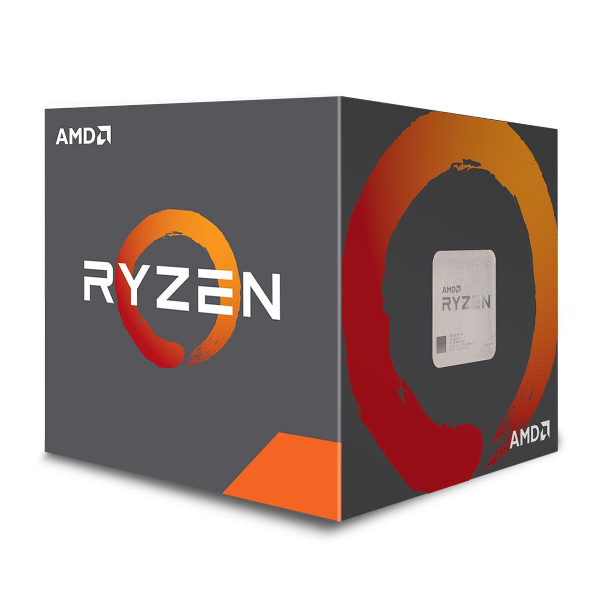 Processeur AMD Ryzen 3 1200 Wraith Stealth Edition (3.1 GHz) Processeur Quad Core socket AM4 Cache L3 8 Mo 0.014 micron TDP 65W avec système de refroidissement (version boîte - garantie constructeur 3 ans)