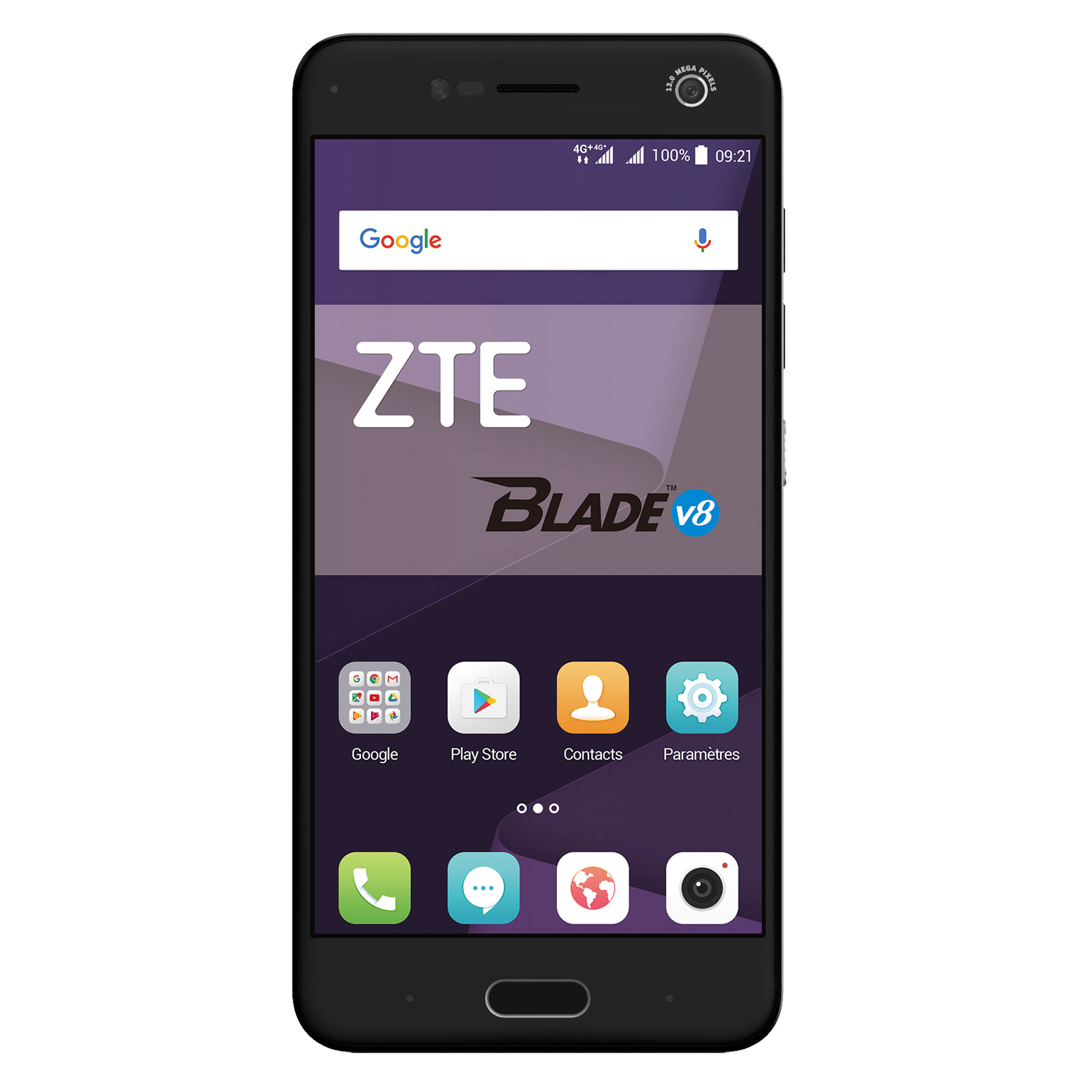 "Mobile & smartphone ZTE Blade V8 Gris Smartphone 4G-LTE Dual SIM - Snapdragon 435 8-Core 1.4 GHz - RAM 3 Go - Ecran tactile 5.2"" 1080 x 1920 - 32 Go - Bluetooth 4.1 - 2730 mAh - Android 7.0"