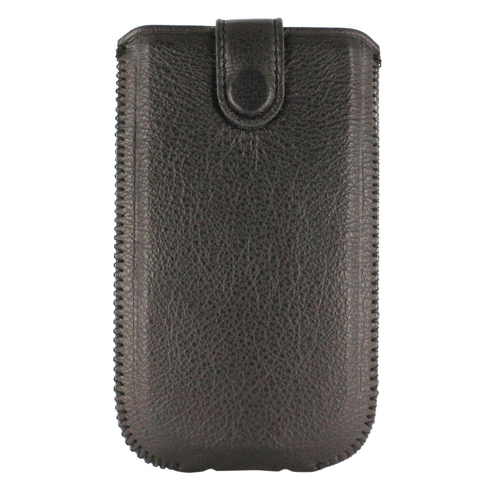Etui téléphone Akashi Etui Universel Autolift Noir Taille L Etui en simili cuir