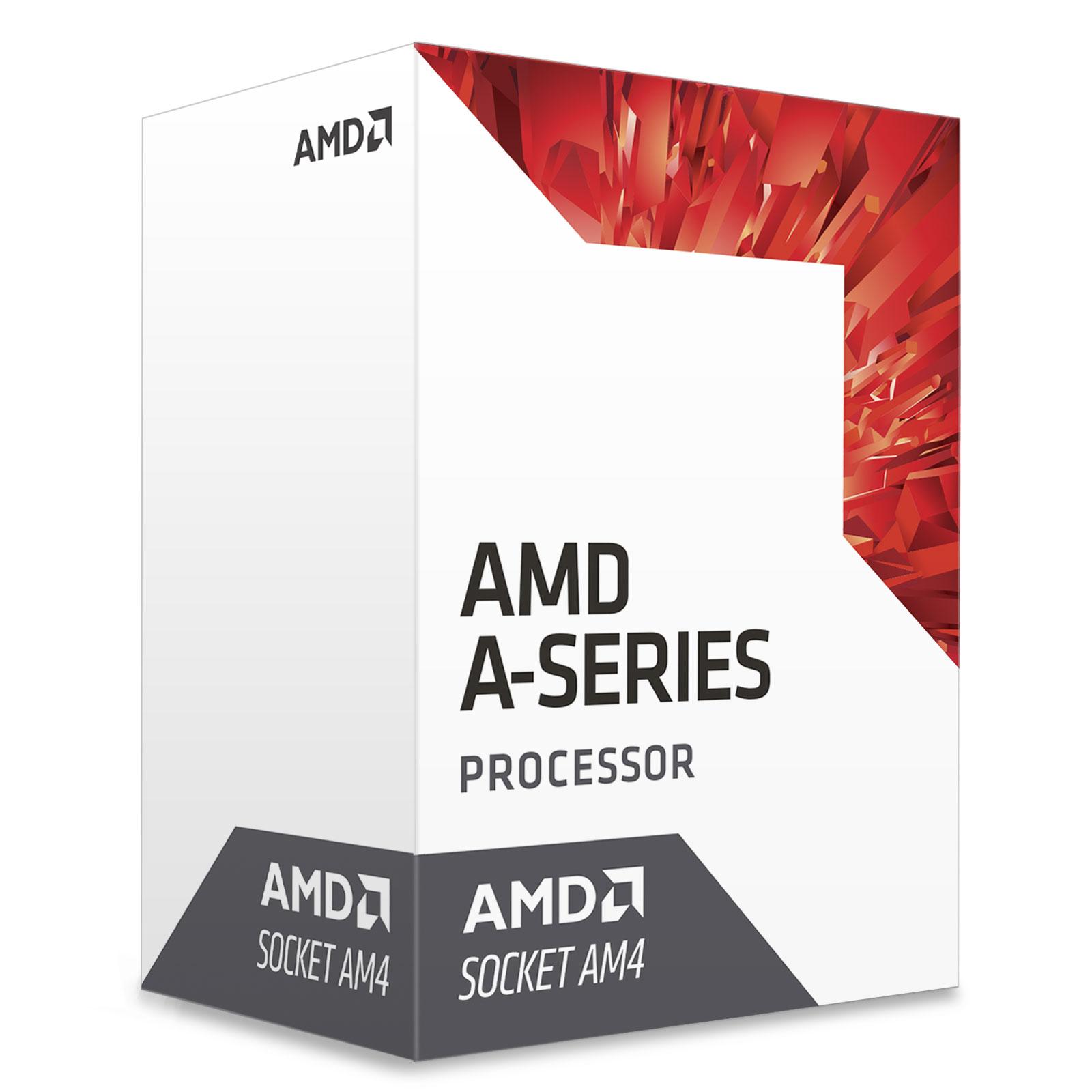 Processeur AMD A10-9700 (3.5 GHz) Processeur Quad Core socket AM4 Cache L2 2 Mo Radeon R7 series 0.028 micron TDP 65W (version boîte - garantie constructeur 3 ans)