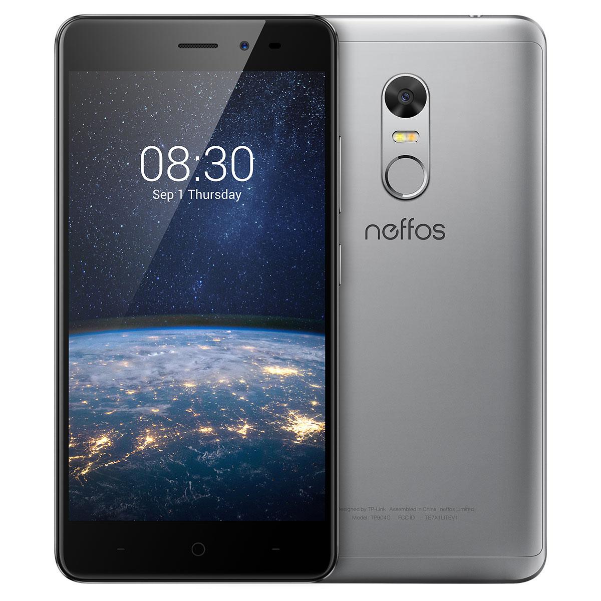 "Mobile & smartphone Neffos X1 Lite Gris ciel 16 Go Smartphone 4G-LTE Dual SIM - MediaTek MT6750 8-Core 1.5 GHz - RAM 2 Go - Ecran tactile 5"" 720 x 1280 - 16 Go - Bluetooth 4.1 - 2520 mAh - Android 7.0"