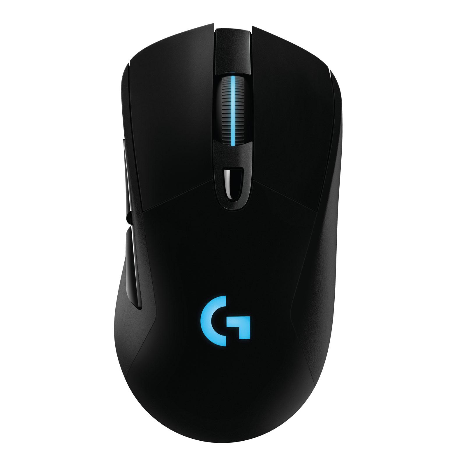 Souris PC Logitech G703 Lightspeed Wireless Gaming Mouse Souris avec ou sans fil pour gamer - droitier - capteur optique 12000 dpi - 6 boutons programmables - poids ajustable - compatible Powerplay - technologie Lightspeed