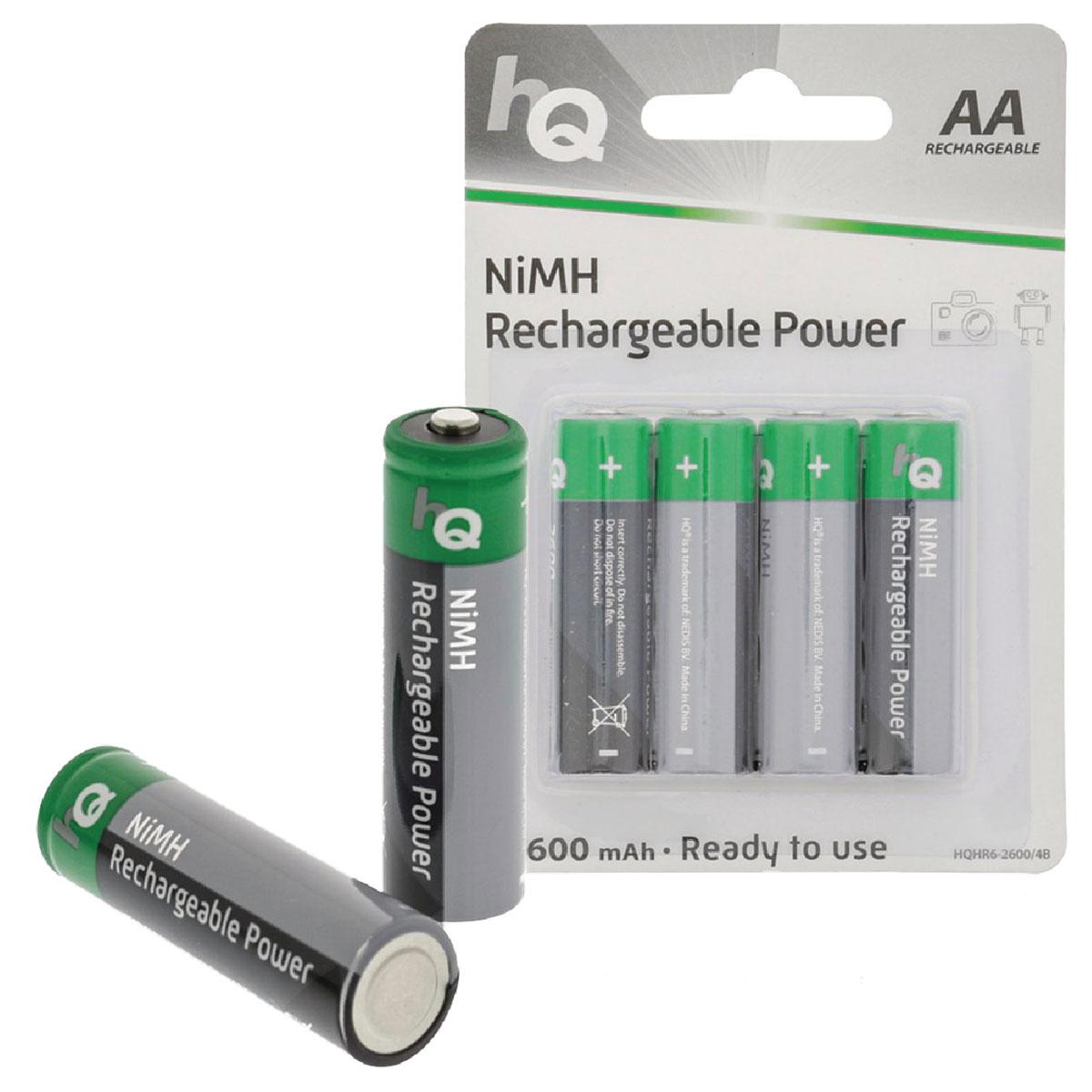 Hq rechargeable power aa 2600 mah par 4 pile - Pile aa rechargeable ...