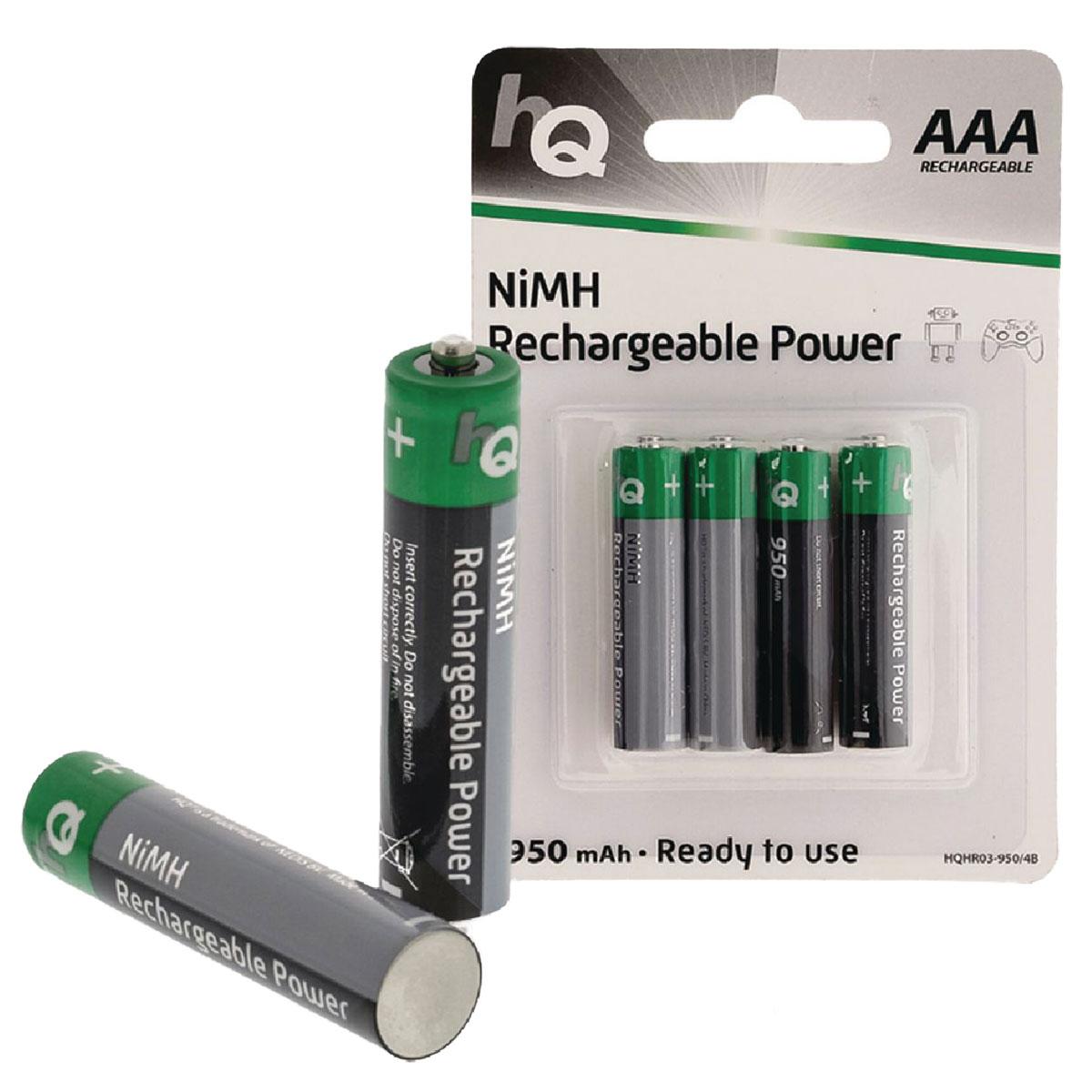 hq rechargeable power aaa 950 mah par 4 pile chargeur hq sur. Black Bedroom Furniture Sets. Home Design Ideas