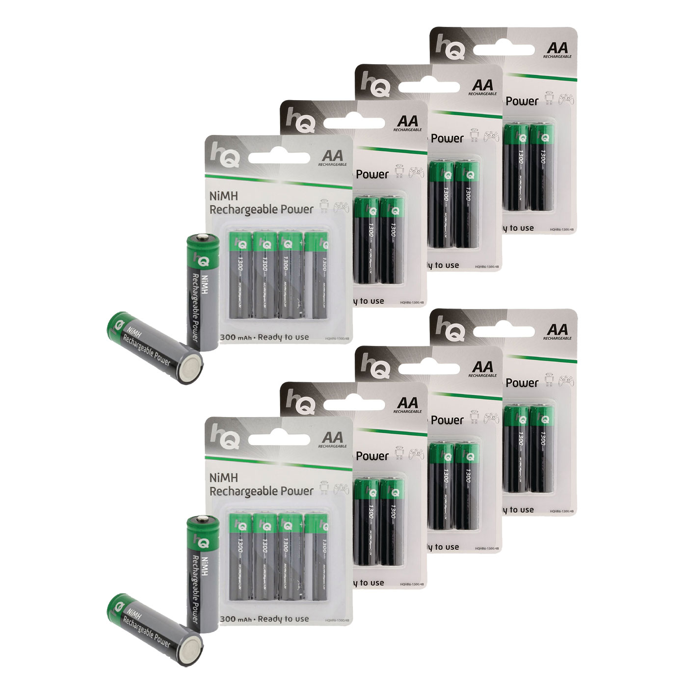 Hq rechargeable power aa 1300 mah par 32 pile - Pile aa rechargeable ...
