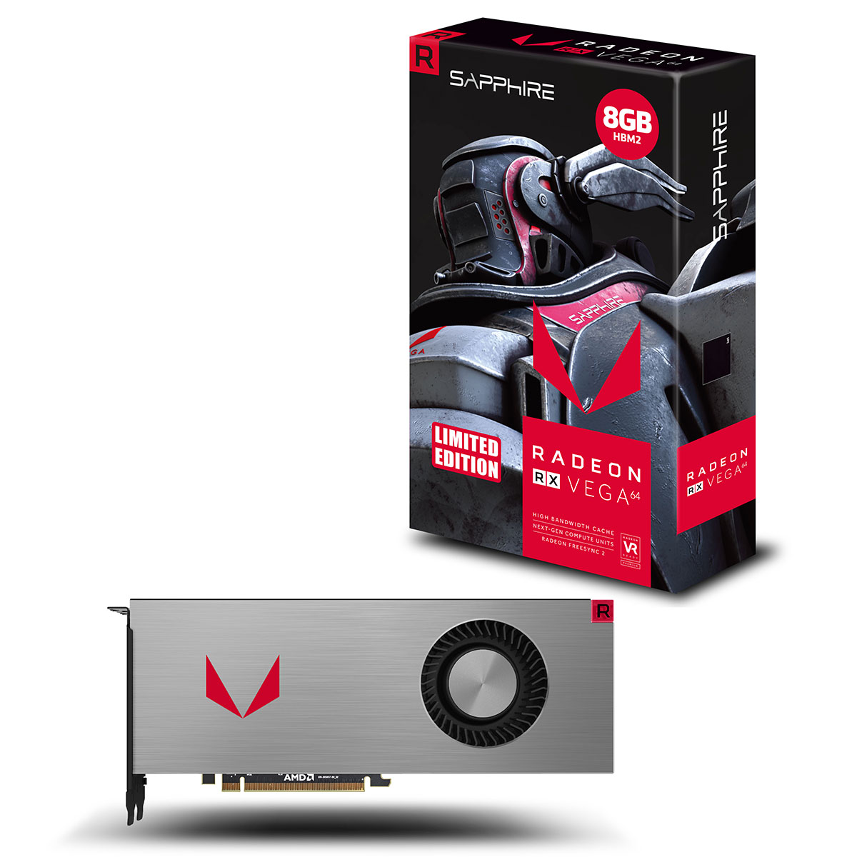 Carte graphique Sapphire Radeon RX Vega 64 8G HBM2 Limited Edition 8 Go HDMI/Tri DisplayPort - PCI Express (AMD Radeon RX Vega 64)