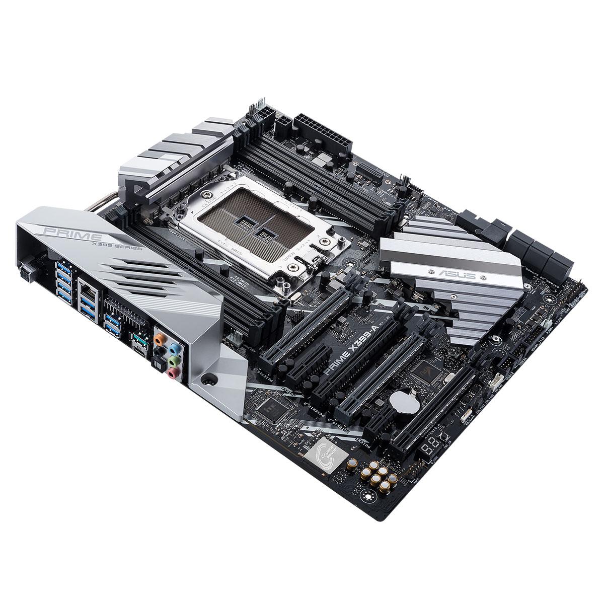 Carte mère ASUS PRIME X399-A Carte mère E-ATX Socket sTR4 AMD X399 - 8x DDR4 - SATA 6Gb/s + M.2 + U.2 - USB 3.1 - 4x PCI-Express 3.0 16x