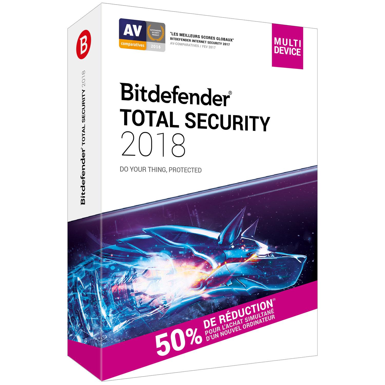 bitdefender total security 2018 attachement licence 2 ans 10 appareils logiciel s curit. Black Bedroom Furniture Sets. Home Design Ideas