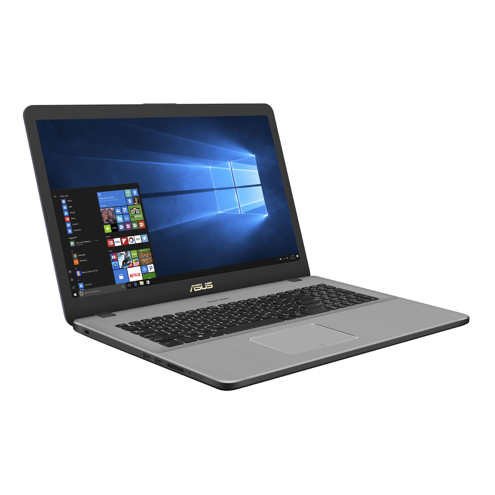 "PC portable ASUS R702UV-BX063T Intel Core i5-7200U 8 Go SSD 128 Go + HDD 1 To 17.3"" LED HD+ NVIDIA GeForce 920MX Wi-Fi N/Bluetooth Webcam Windows 10 Famille 64 bits (garantie constructeur 2 ans)"