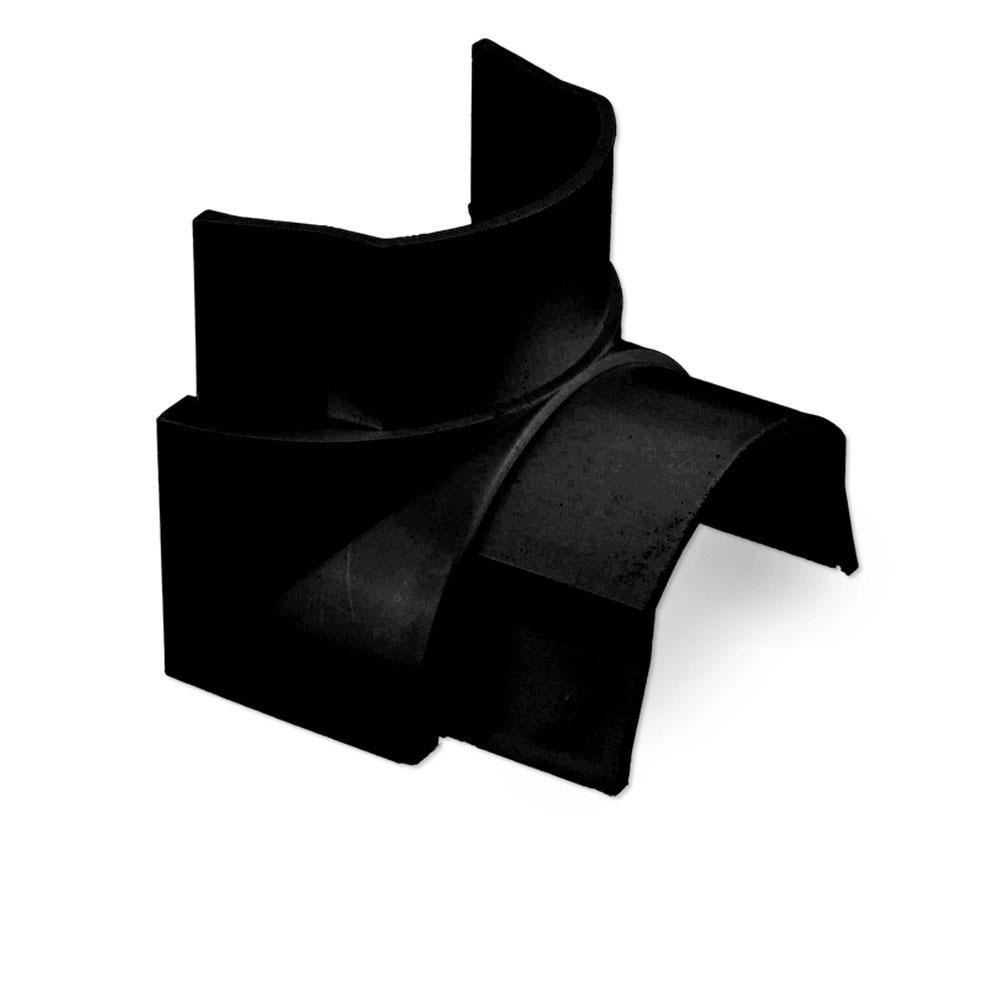Passe câble D-Line IB1608B Angle interne pour moulure décorative en demi-cercle 16mm x 8mm - Noir