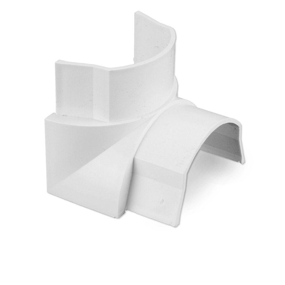 Passe câble D-Line IB5025W Angle interne pour moulure décorative en demi-cercle 50mm x 25mm - Blanc