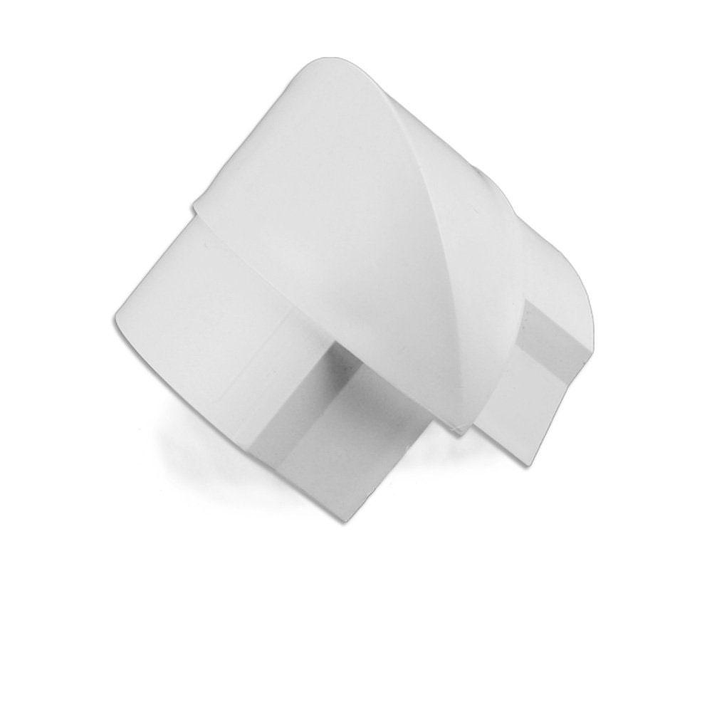 Passe câble D-Line EB5025W Angle externe pour moulure décorative en demi-cercle 50mm x 25mm - Blanc