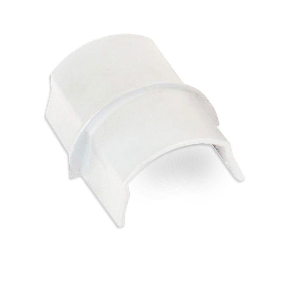 Passe câble D-Line CP5025W Coupleur pour moulure décorative en demi-cercle 50mm x 25mm - Blanc