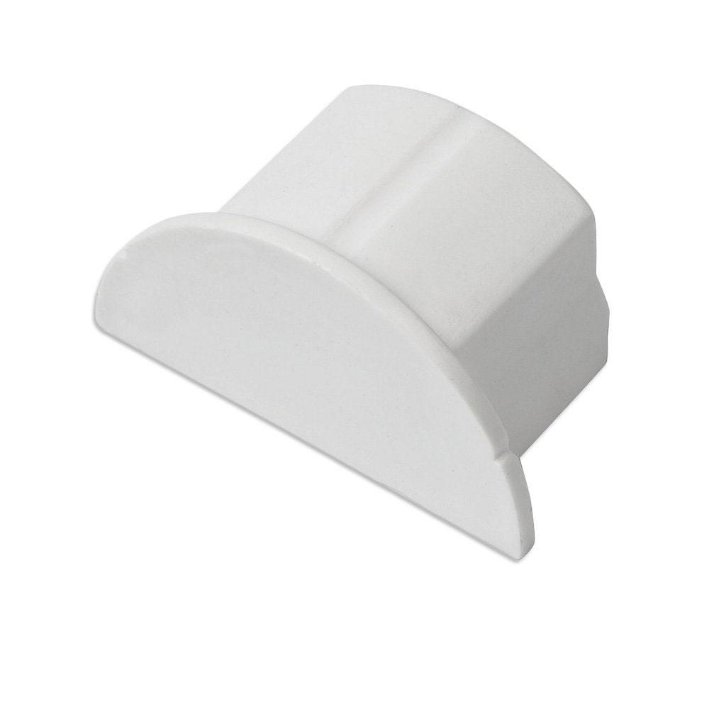 Passe câble D-Line EC3015W Bouchon pour moulure décorative en demi-cercle 30mm x 15mm - Blanc