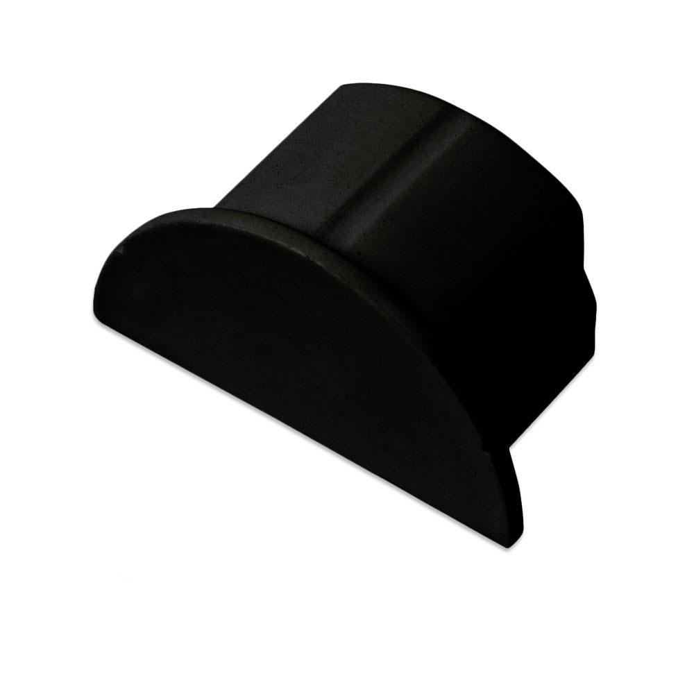 Passe câble D-Line EC5025B Bouchon pour moulure décorative en demi-cercle 50mm x 25mm - Noir
