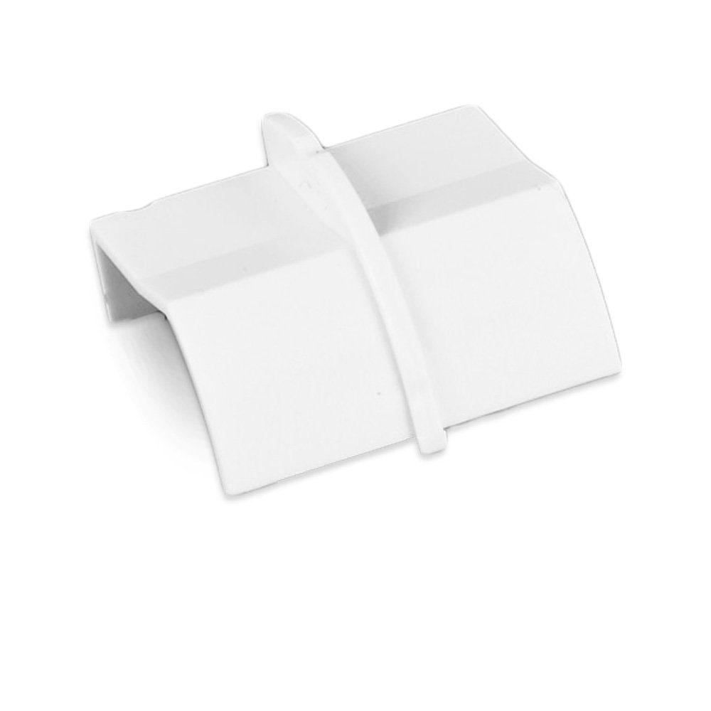 Passe câble D-Line CP22QSW Coupleur pour moulure décorative en quart de cercle 22mm x 22mm - Blanc
