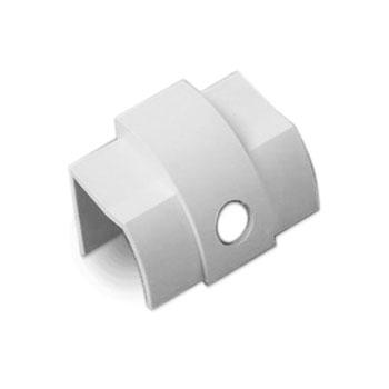 Passe câble D-Line CO22QSW Sortie de câble pour moulure décorative en demi-cercle 22mm x 22mm - Blanc