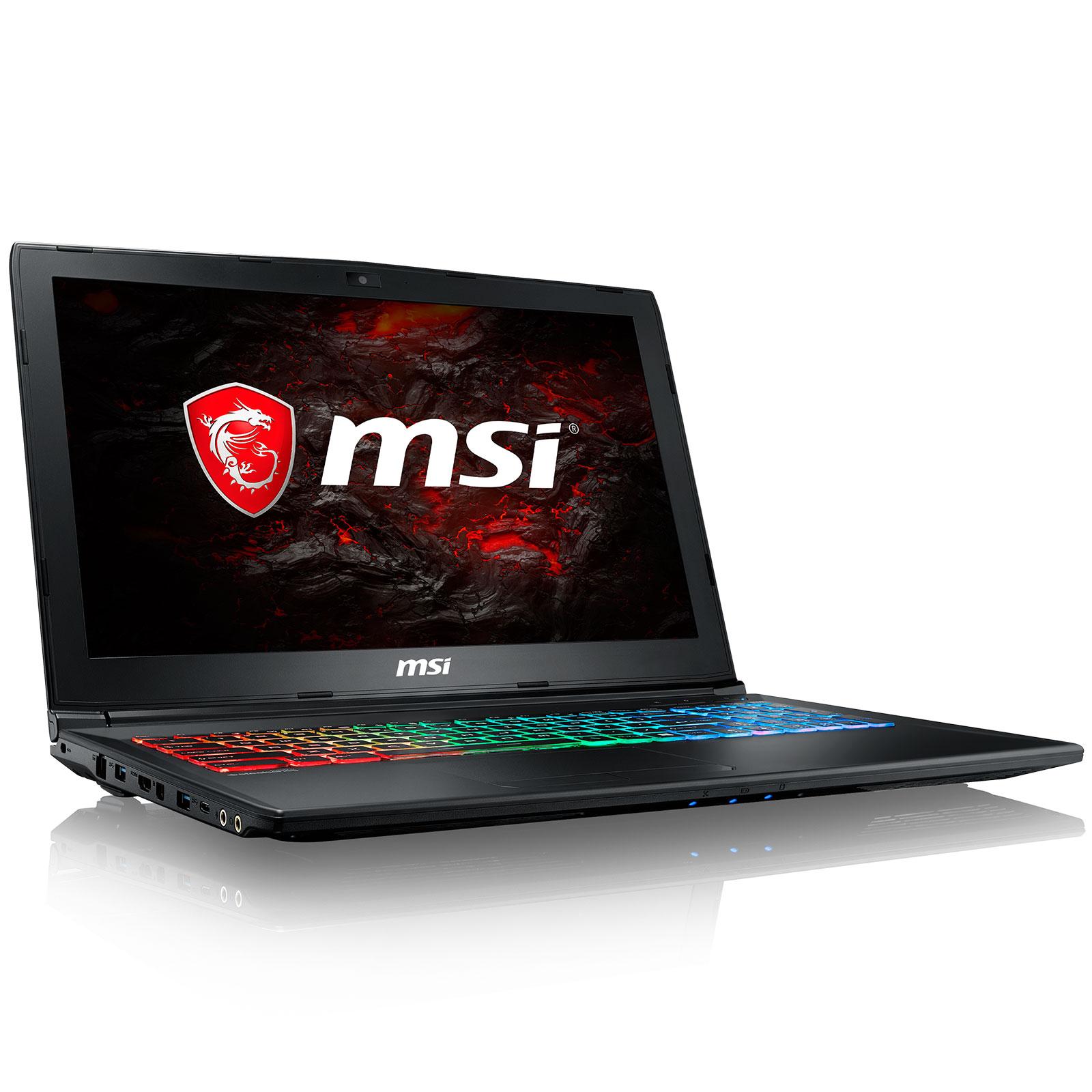 "PC portable MSI GP62MVR 7RFX-1010XFR Leopard Pro Intel Core i5-7300HQ 8 Go SSD 128 Go + HDD 1 To 15.6"" LED Full HD NVIDIA GeForce GTX 1060 6 Go Wi-Fi AC/Bluetooth Webcam FreeDOS (garantie constructeur 2 ans)"