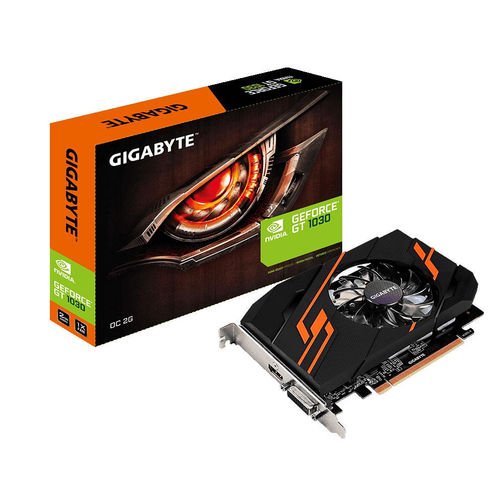 Carte graphique Gigabyte GT 1030 OC 2G 2048 Mo HDMI/DVI - PCI Express (NVIDIA GeForce avec CUDA GT 1030)