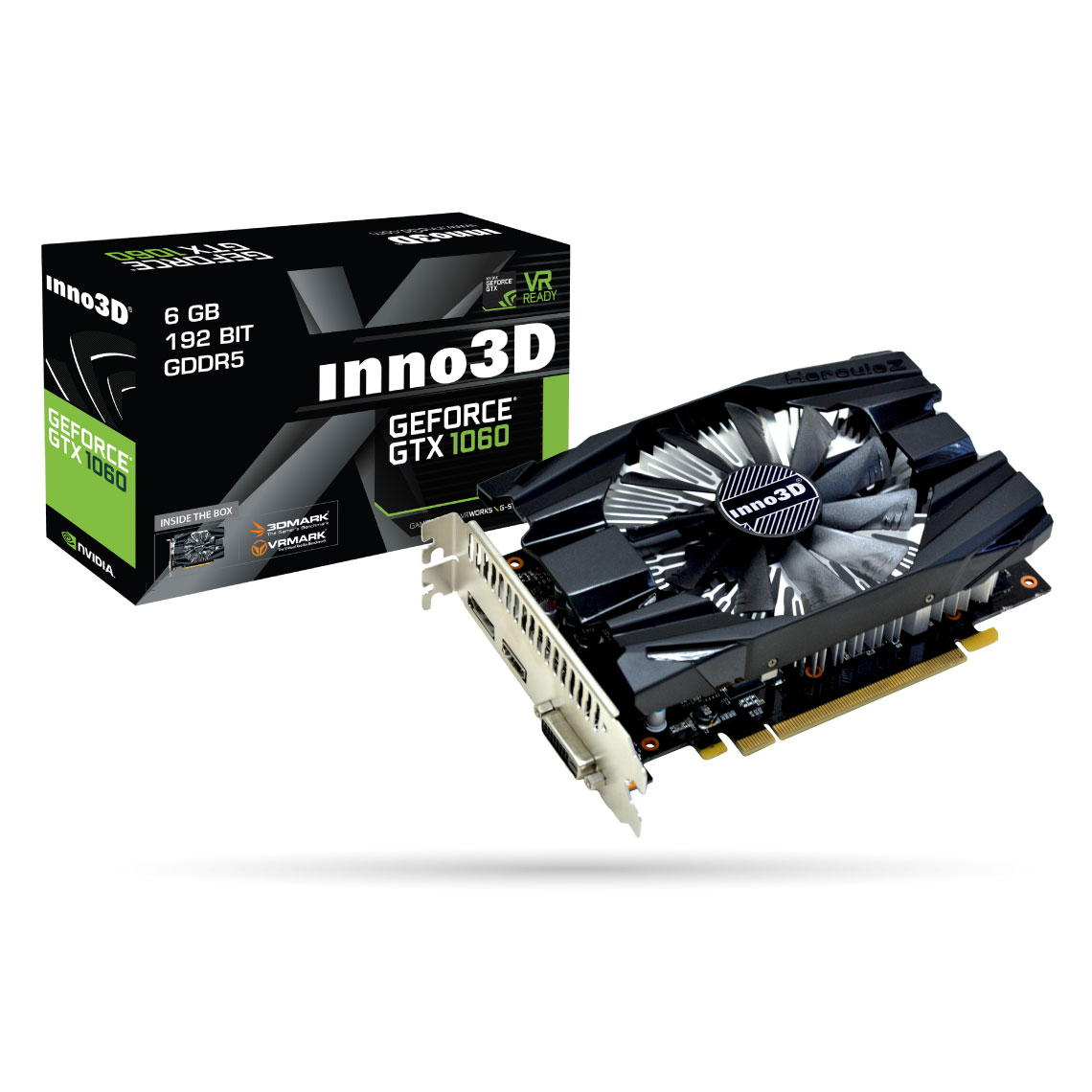 inno3d geforce gtx 1060 6gb compact x1 carte graphique. Black Bedroom Furniture Sets. Home Design Ideas