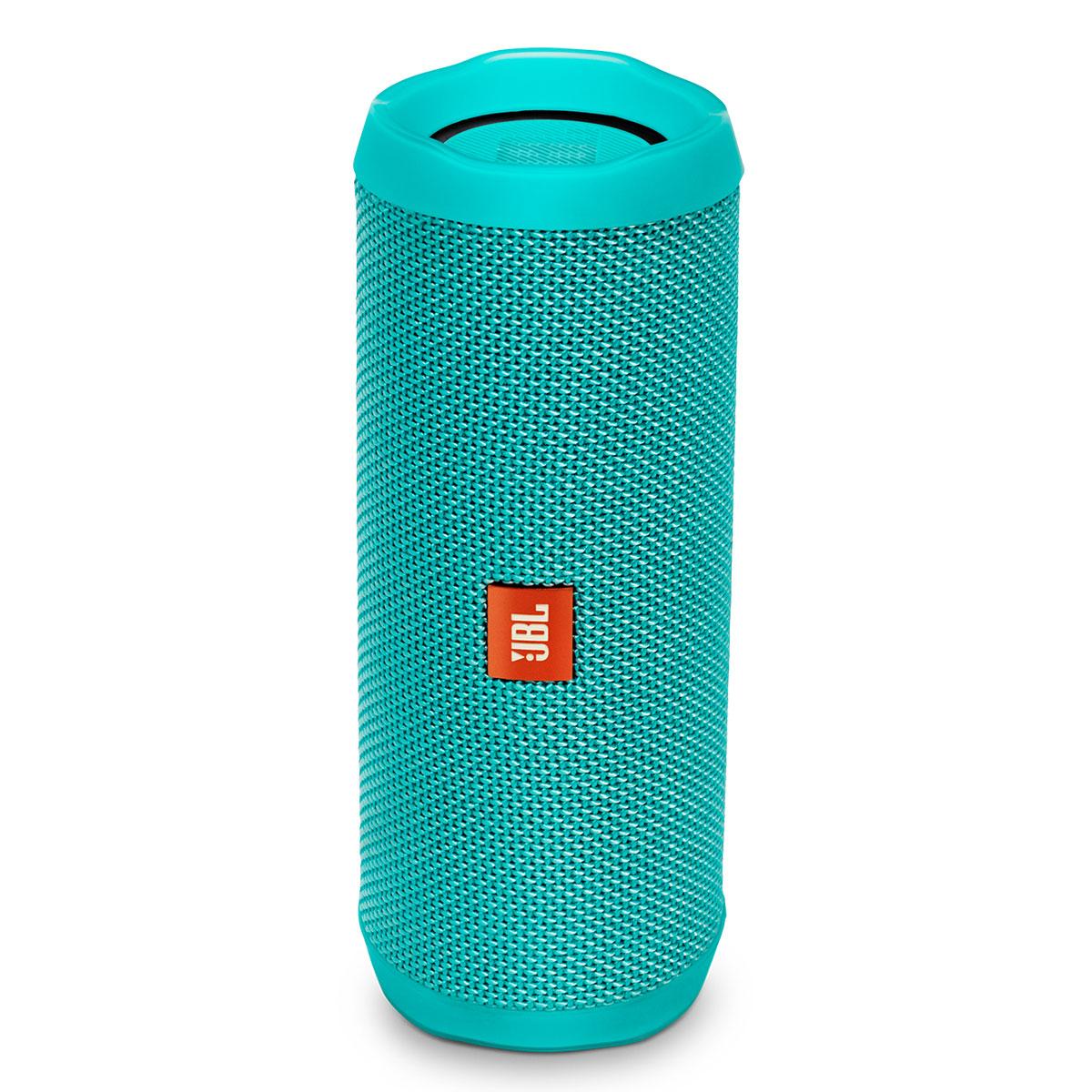 Dock & Enceinte Bluetooth JBL Flip 4 Turquoise  Enceinte portable sans fil Bluetooth Waterproof avec fonction mains libres