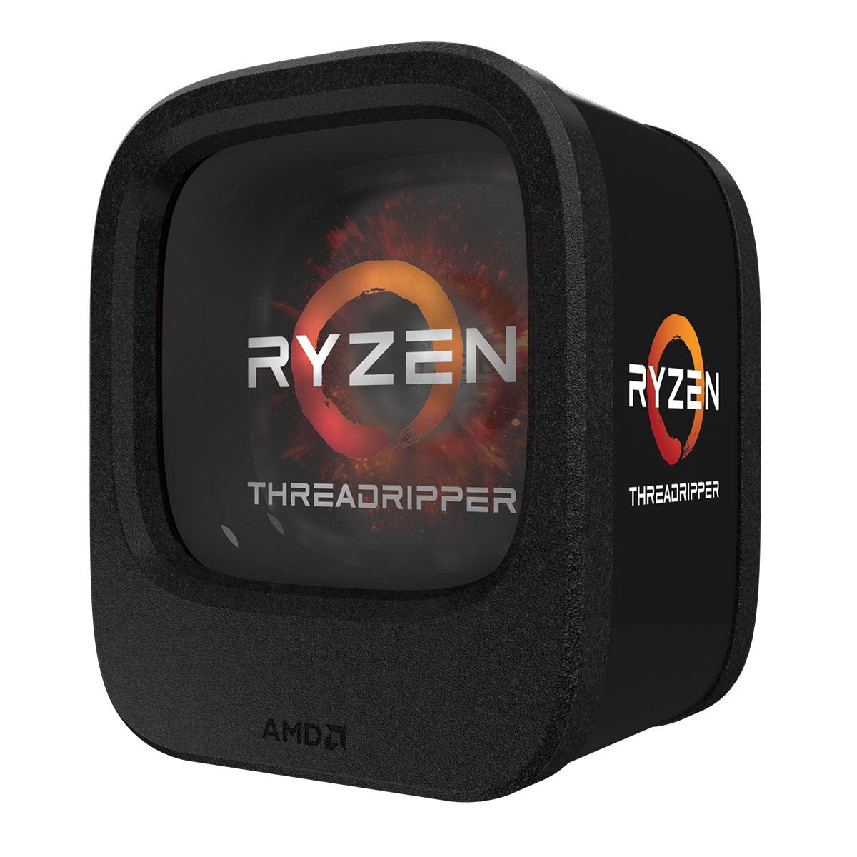Processeur AMD Ryzen Threadripper 1900X (3.8 GHz) Processeur 8-Core Socket sTR4 Cache L3 20 Mo 0.014 micron TDP 180W (version boîte sans ventilateur - garantie constructeur 3 ans)