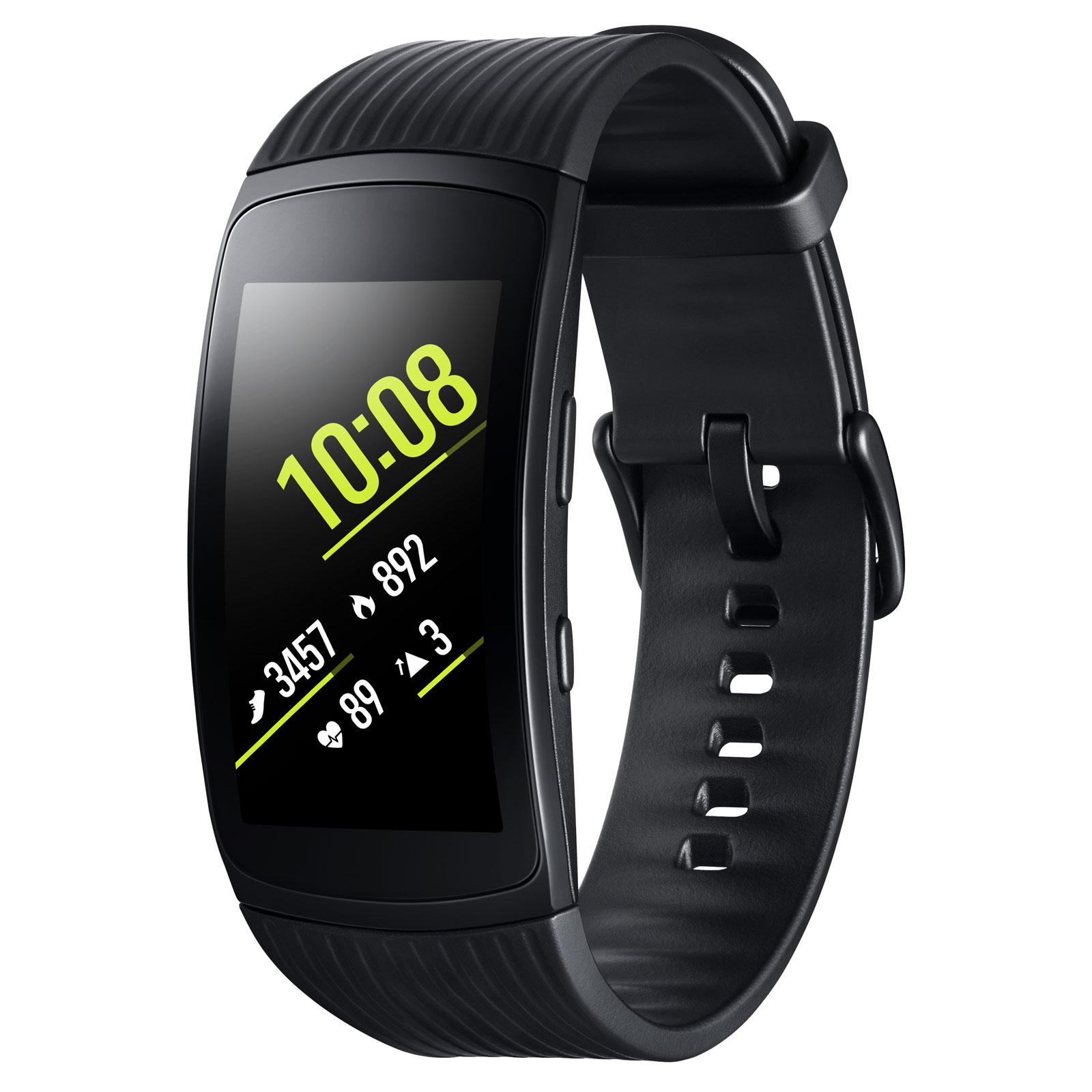 Bracelet connecté Samsung Gear Fit2 Pro S Noir Coach électronique connecté sans fil étanche pour smartphone iOS / Android