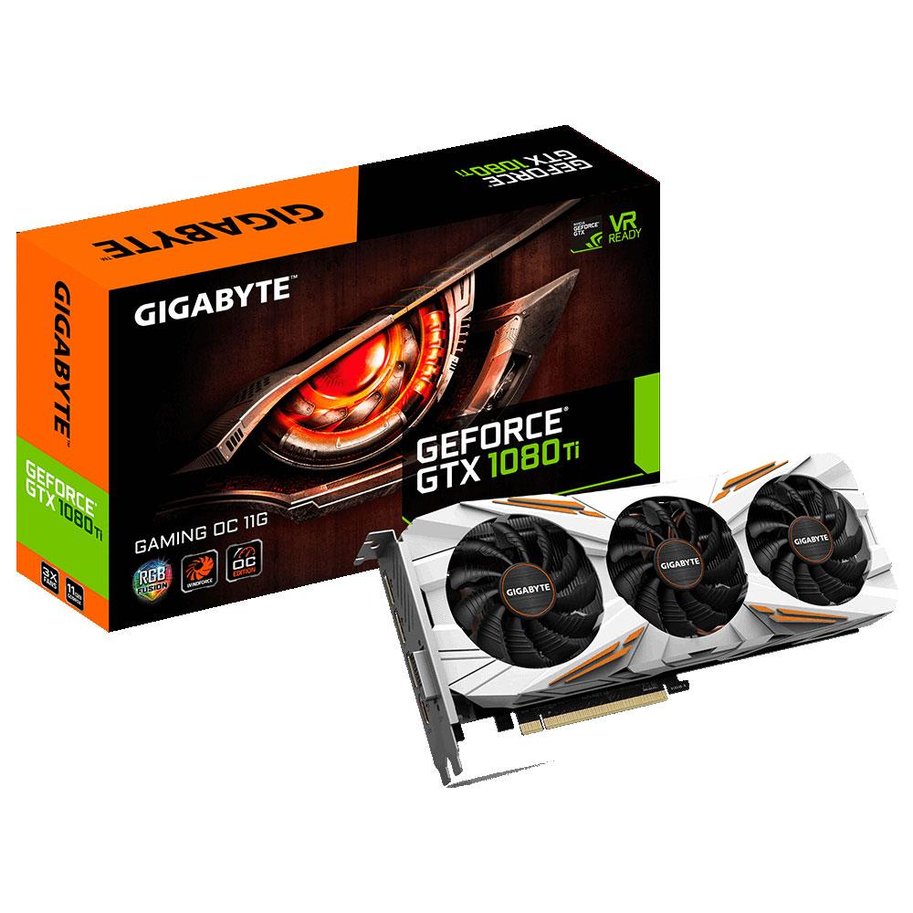 Carte graphique Gigabyte GeForce GTX 1080 Ti Gaming OC 11264 Mo DVI/HDMI/Tri DisplayPort - PCI Express (NVIDIA GeForce avec CUDA GTX 1080 Ti)