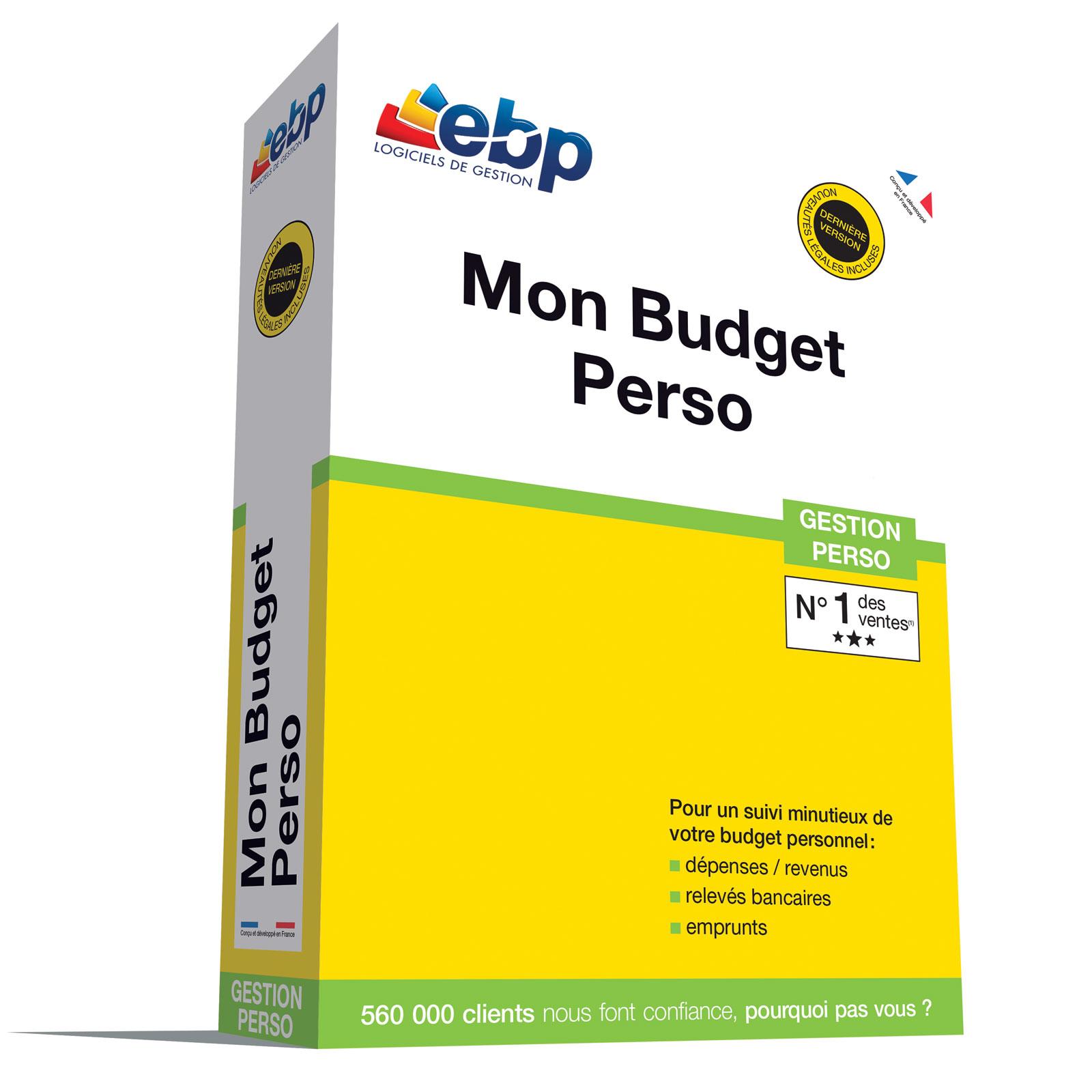 Ebp mon budget perso 2018 logiciel comptabilit - Materiel de bureau comptabilite ...