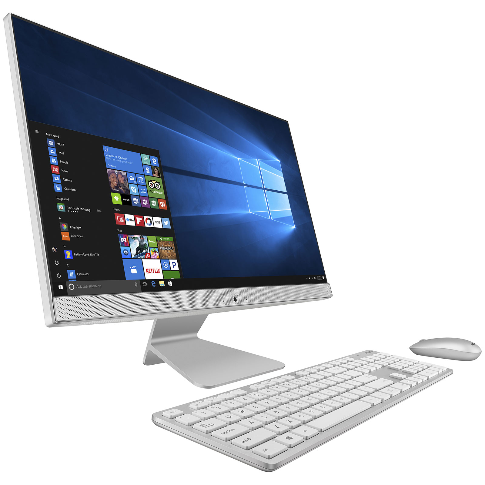 asus vivo aio v241icuk wa039t blanc pc de bureau asus sur. Black Bedroom Furniture Sets. Home Design Ideas