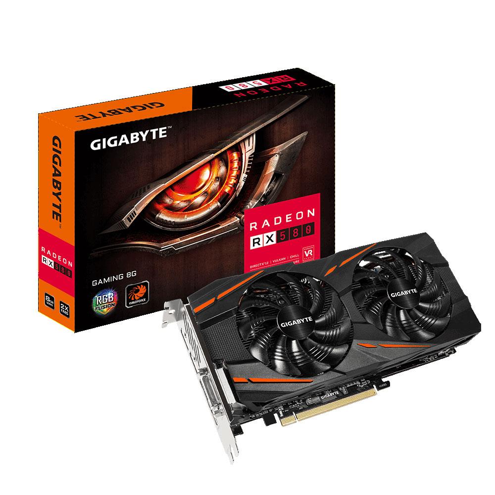 Carte graphique Gigabyte Radeon RX580 Gaming 8G 8 Go DVI/HDMI/Tri DisplayPort - PCI Express (AMD Radeon RX 580)