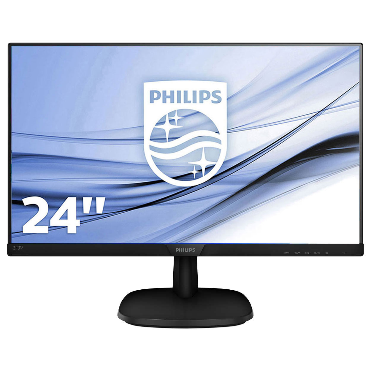Philips 23 8 led 243v7qdsb 00 ecran pc philips sur for Moniteur 27 pouces dalle ips