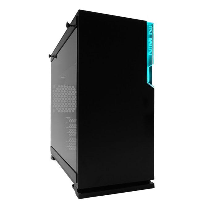 Boîtier PC IN WIN 101C Noir Boîtier Moyen Tour ATX noir avec fenêtre en verre trempé