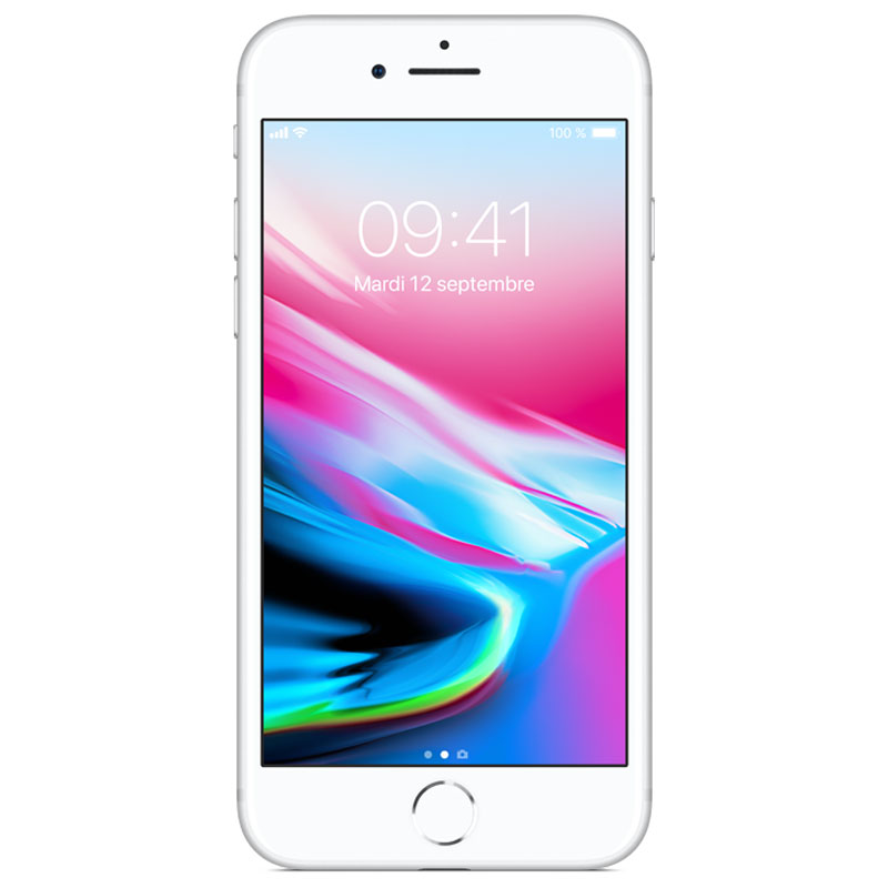 "Mobile & smartphone Apple iPhone 8 64 Go Argent Smartphone 4G-LTE Advanced IP67 - Apple A11 Bionic Hexa-Core - RAM 2 Go - Ecran Retina 4.7"" 750 x 1334 - 64 Go - NFC/Bluetooth 5.0 - iOS 11"